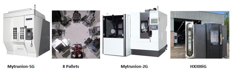 Máy phay CNC 5 trục 8 pallets